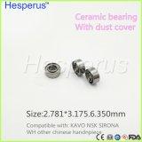 Rodamientos dentales Hesperus de Handpiece de la serie de alta velocidad dental del rodamiento 2.78m m