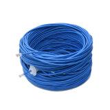 Alta velocidad UTP Cat5e Aliminum revestido de cobre o de cobre del cable de red LAN de color blanco