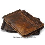 Voyage en cuir personnalisé de l'argent Collier Homme Portefeuille RFID