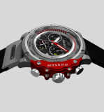 대중적인 주문을 받아서 만들어진 로고 형식 작풍 스포츠 시계 주문 인쇄된 로고 실리콘 시계