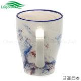 Tazza di ceramica multicolore unica con il disegno di marmo creativo