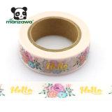 保護テープの水彩画の花の金ホイルの自己接着Washiテープ