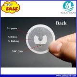 Autoadesivi caldi di Nfc dello spazio in bianco del rullo dell'animale domestico Ntag213 di vendita