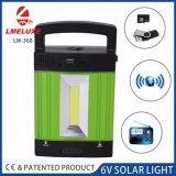 Luz solar dos produtos novos com luz da ESPIGA e jogador MP3