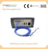 K 유형 열전대 (AT4508)의 8 PCS를 가진 온도 데이터 기록 장치