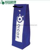 Maniglia non tessuta riutilizzabile del taglio del sacchetto di Tote del vino del commercio all'ingrosso D con il marchio su ordinazione
