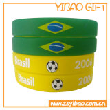 Material Eco-Friendly gravado do Wristband do silicone do texto (YB-SW-19)