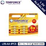 Bateria Seca alcalina com marcação aprovado para o brinquedo 8 PCS (LR6-Tamanho AA)
