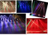 Punto caldo! PRO indicatore luminoso LED di 10W X di 8PCS che sposta l'indicatore luminoso del fascio del ragno del DJ LED del cambiamento di colore di Headrgbw