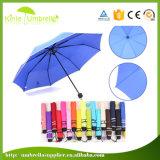 parapluie fois de pluie du parapluie 3 de Madame Sun de la promotion 21inch