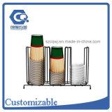 Entgegengesetzt angepasst Metalldraht-Kaffee-Papierbecherhalter stehen