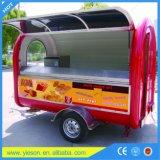 El carro más barato del alimento del OEM del alimento del abastecimiento del Crepe blanco del acoplado de la fábrica de Shangai