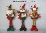 Santa estando, decoração do Natal da rena do boneco de neve