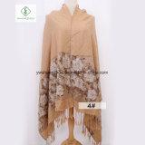 2017本の最新のばらのジャカードスカーフの方法綿のアクリルのPashminaのショール