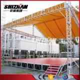 precio de fábrica portátil de aluminio de escenario al aire libre de la armadura de techo