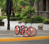 Sistema de Intercambio de bicicleta pública con el GPS de bloqueo de bicicleta de 26 pulgadas con neumáticos sólidos