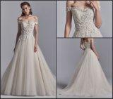 Plus Size Suite Quarto o cordão de ombro uma linha de Appliqued vestido de noiva Yao76