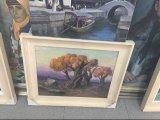Houten Uitgerekte Staaf 30% het Met de hand gemaakte Moderne Canvas van het Canvas van het Olieverfschilderij
