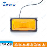 luz de etiqueta de plástico lateral ambarina de 12V LED para el acoplado del carro
