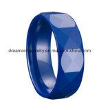 El múltiplo blanco y negro de calidad superior del color secciona el anillo de cerámica tallado multi brillante del anillo de cerámica