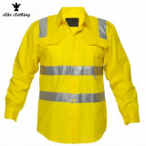 Comercio al por mayor de perforación de algodón transpirable de alta visibilidad Ropa de Trabajo Industrial