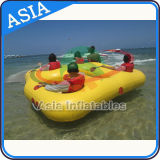4-5 tubo trainabile gonfiabile della mosca di giro del crogiolo di ciambella della barca di Skie del tubo della persona per i giochi di sport di acqua
