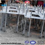 Boulons d'anchrage galvanisés J-Shaped de réservoir en béton