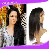 Haute qualité 100 % perruque de cheveux humains Lace Front