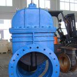 Valvola a saracinesca industriale del ferro del getto della sede di gomma duttile di Reslient