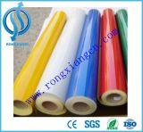 高い気力の赤くおよび白い反射注意の安全テープ
