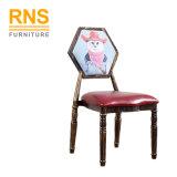 漫画パターンが付いているD350現代木の椅子