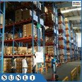 Sistema de prateleiras de armazenagem em porta-paletes de armazenagem de paletes vazios