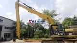 estensione lunga e braccio dell'escavatore di 18m con il trattore a cingoli Cat330d