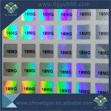 Serial de alta qualidade personalizada Numbergold Autocolante com holograma a Laser
