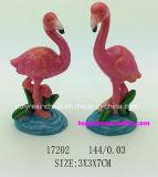 Polyresin Flamingo-Statue mit glänzenden fertigen Farben