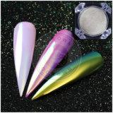 Pigmento do curso da cor do arco-íris do espelho do cromo do unicórnio da Aurora para a arte do prego