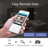 Câmera sem fio do IP da fiscalização 720p WiFi da segurança do IP da bandeja/inclinação/zoom da câmera da abóbada