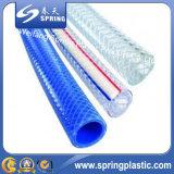 Mangueira de jardim trançada da tubulação da irrigação da água da fibra flexível plástica do PVC