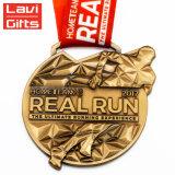 regalo de promoción decoración personalizada de Artesanía de metal 3D Deporte Premio Medalla de recuerdo de oro