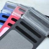 Tecido de couro PU Fashion Mala impermeável para telemóvel 6 polegada