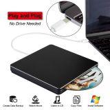 Externe DVD CD van de Aandrijving USB C DVD CD DVD van de Aandrijving van de Speler Externe Brander USB C Superdrive voor het Werk PC/Laptop/Mac/Air/PRO voor Vensters/MAC Osx/(Zwart) Uitzicht