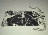 Bolso suave gris de encargo promocional de los vidrios del lazo del paño de Microfiber