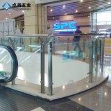 Precio de cristal modificado para requisitos particulares de la barandilla por el contador con la superficie del satén