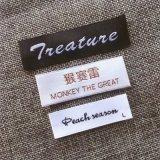 Corte de ultra-sons de alta qualidade personalizada Garment etiqueta com