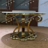 Мраморные или закаленного стекла из нержавеющей стали Chrome Silver Луис обеденный стол Yc-St30