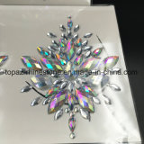 2018 Bling Glitter piel ojos Sticker adhesivo acrílico cristal Gema Diamante pegatinas de Tórax (E09)