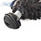 Gruppo riccio crespo brasiliano dei capelli di estensione dei capelli umani dei capelli umani