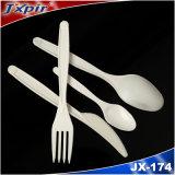 Lama di plastica della forcella del cucchiaio degli apparecchi bianchi biodegradabili dell'alimento