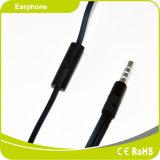 サンプル使用できるシリコーンのMicが付いている物質的で黒い耳のイヤホーン