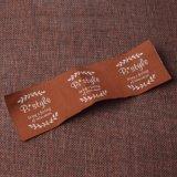 Étiquette tissée personnalisée par étiquette tissée d'habillement
